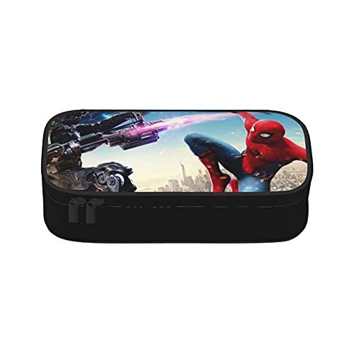 Estuche para lápices de Spiderman de gran capacidad, compartimentos para lápices, organizador de escritorio, papelería para artículos escolares y de oficina
