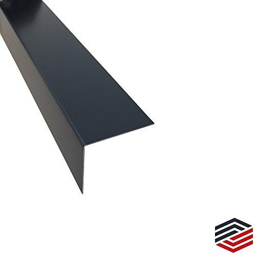 Alu Winkel Anthrazit Kantenschutz 2 Meter (60 x 60 x 0,8 mm)
