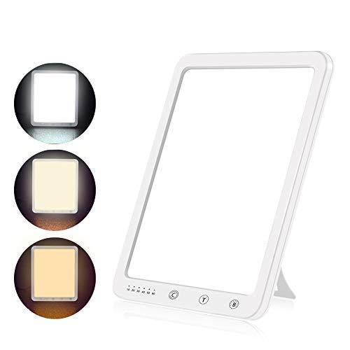 Azhien Tageslichtlampe 10000 Lux,Energy Sonnenlicht Lampe mit 3 Farbmodi,Tragbare Touch-Steuerung LED Vollspektrumlampe mit 5 Einstellbaren Helligkeiten,UV-Frei,CRI>90,Speicherfunktion&Timer