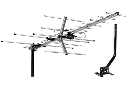 powerful [Newest 2020]  Up to 200 Miles 5 Star TV Antenna Indoor / Outdoor Yagi HD Satellite Antenna…
