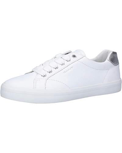 GANT Footwear Damen SEAVILLE Sneaker, Weiß (Bright Wht./Silver G291), 39 EU