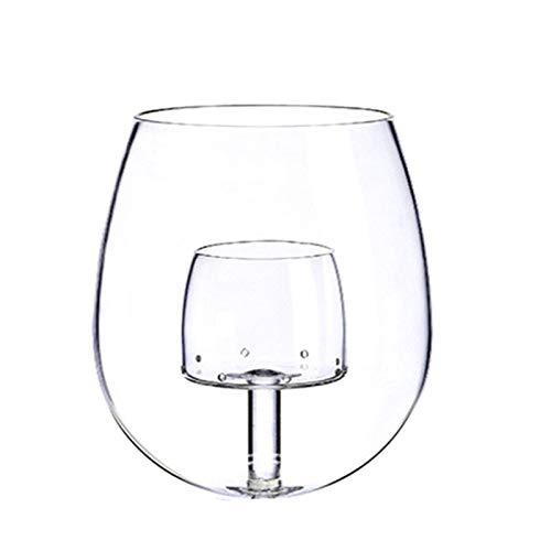 LINMAN Copas de Vino de Aire sin explosión de Vidrio Gastronomía Molecular Bar Barmer Beer (Color : A)