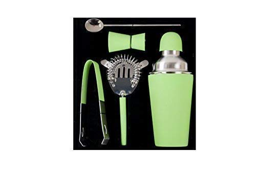 1a-Handelsagentur acciaio inox BAR-SET 5 pz. div. COLORI - verde