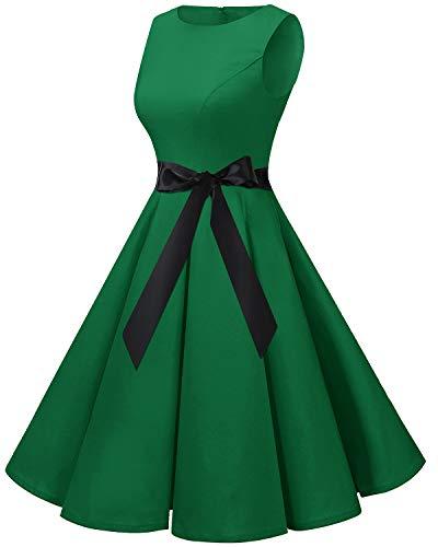 Bbonlinedress 50s Retro Schwingen Vintage Rockabilly kleid Faltenrock Green 3XL - 3