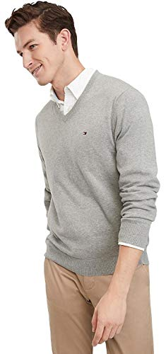Tommy Hilfiger Grey Sweaters Mens