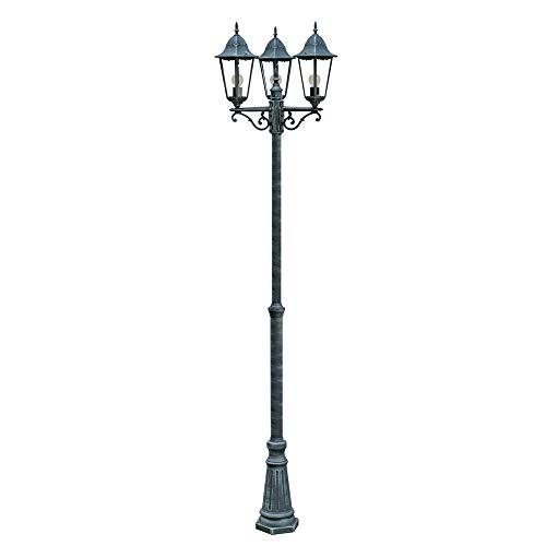 Kandelaber grün-schwarz Gartenlampe Gartenleuchte Straßenlampe Wegeleuchte