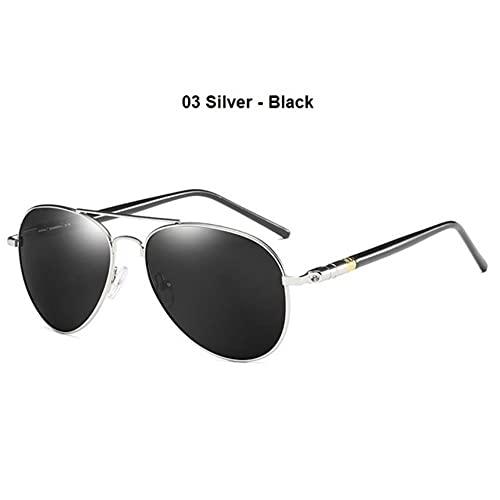 DovSnnx Unisex Polarizadas Gafas De Sol 100% Protección UV400 Sunglasses para Hombre Y Mujer Gafas De Aviador Gafas De Ciclismo Ultraligero Espejo Toad Plata-Negro