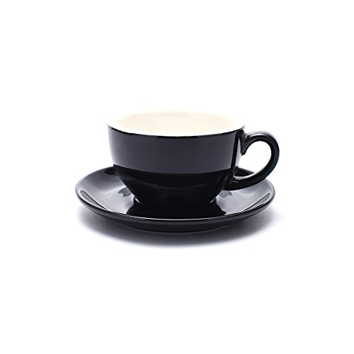 Coffeezone Latte Art Cup and Saucer for Latte & Cappuccino New Bone China