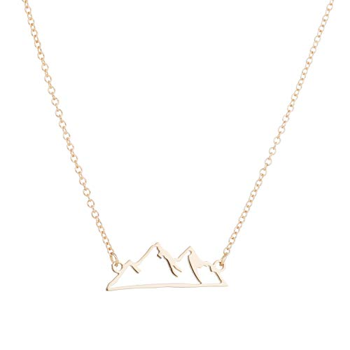 The Chic Hollow Snow Mountain Stainless Steel Pendant Necklace Chain for Women on The Neck Xmas Best Friend Gift