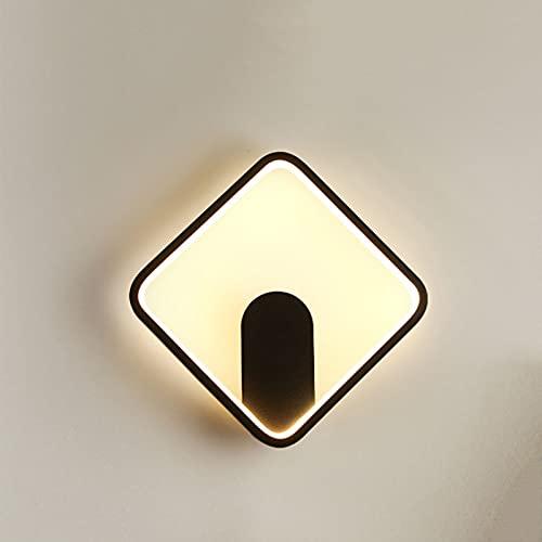 JAJU Aplique de Pared LED, luz de Lectura Junto a la Cama, Impermeable IP65, para el Pasillo del Dormitorio de la Sala de Estar, Regulable por Temperatura de 3 Colores