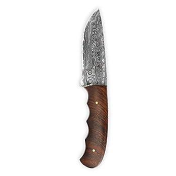 Damas Main personnalisée de Chasse Couteau avec étui en Cuir