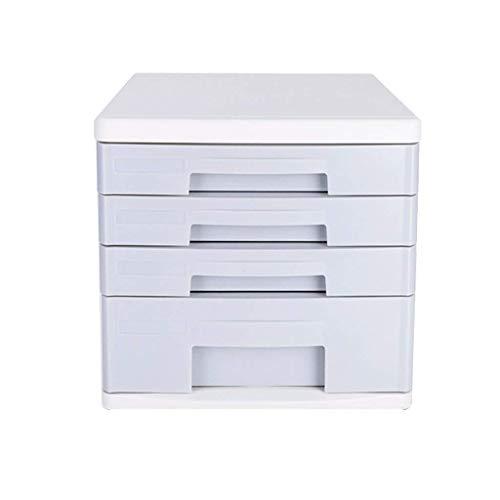 Y-longhair Clasificadores cajón, mesa de escritorio de oficina cajón del armario 4 capas de datos de Office Supplies Bastidores Periódico portátil Tidy Periódico Bastidores con el medio ambiente plást