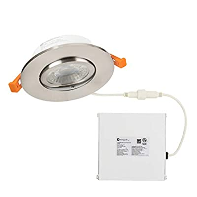 LED Gimbal Recessed Downlight, 3.5 Inch with Driver