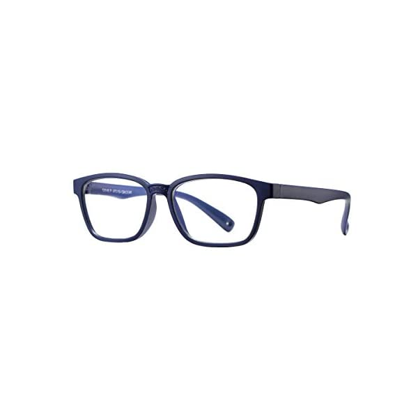 COASION Kids Blue Light Blocking Glasses Silicone Flexible Square Eyeglasses Frames for Girls Boys Age 3-12