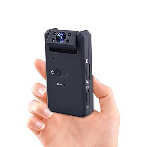Zeerkeer - Mini videocamera portatile HD 1080p, con videoregistratore, visione notturna, lunga durata, supporto da 32 GB