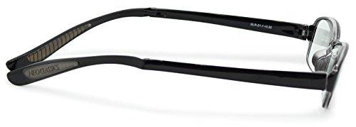 デューク老眼鏡首掛け+2.5度数ネオクラシックネックハグソフトケース付きスモークGLR-21-1+2.50