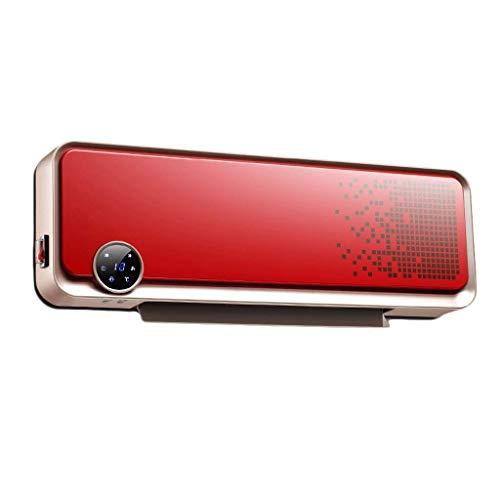 HQCC Appareil de chauffage en céramique PTC mural, 3 réglages de puissance - 2000W, télécommande et affichage à LED - Fonction de coupure automatique en cas de surchauffe (Couleur : Red)