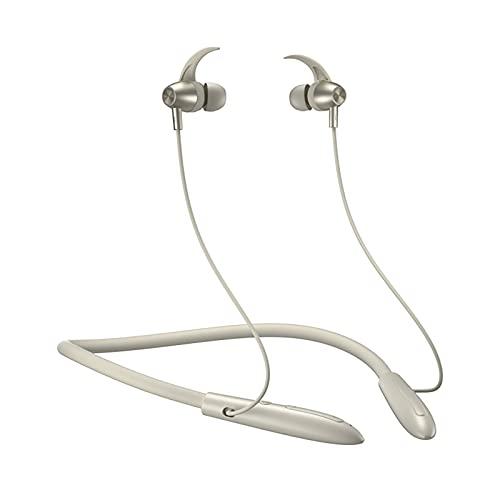 Auriculares inalámbricos anti-sudor montados en el cuello para correr, deportes, música, auriculares inalámbricos Bluetooth, auriculares estéreo con reducción de ruido de llamadas montados(Color:
