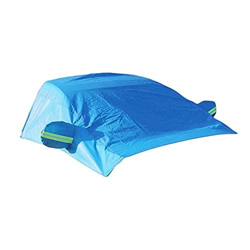JKBDNB Cubierta De Parabrisas De Coche, Protector De Parasol Impermeable A Prueba De Viento Snow Ice con Protector De Espejo Retrovisor para Coche De Pasajeros, Azul