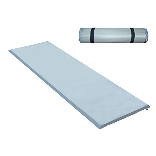 Hengda Luftmatratze Selbstaufblasend,Komfort Isomatte Ultraleicht für Zelt Schlafsack Hängematte Backpacken(190 * 60 * 3CM Grau)