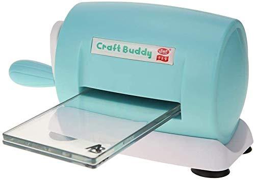 FayTun - Máquina de troquelado para hacer manualidades, manualidades, álbumes de recortes de plástico, para manualidades, manualidades, manualidades, manualidades, cortador de papel (azul)