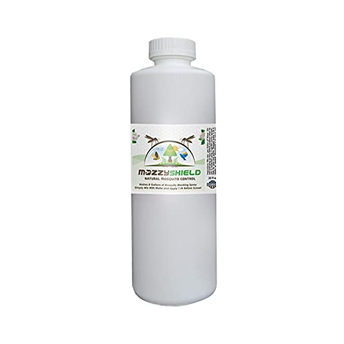 Mozzyshield - Natural Mosquito Control - Ultra Concentrated - Makes 8 Gallons - 1 Quart (32 oz.) of Natural Garlic Mosquito Barrier