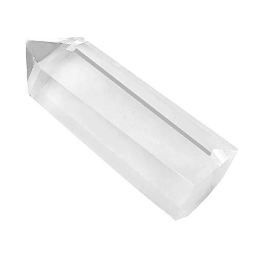 Wifehelper Heilkristall-Zauberstäbe - Klare Quarzpunkte Natürlicher Kristall Natürlicher Quarzkristall Poliert Trommelsteine Dekor(5-6cm)