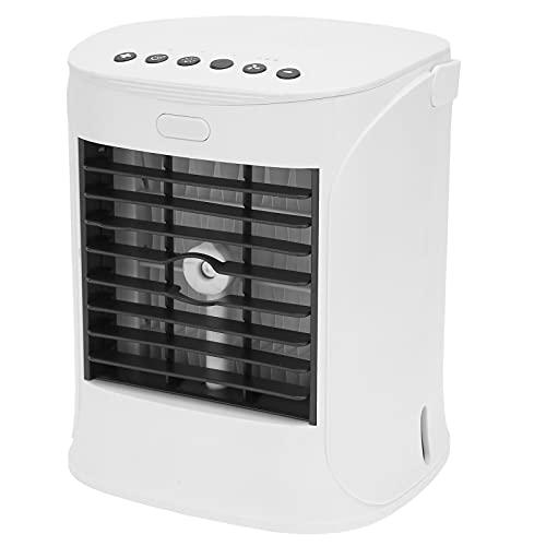 FOLOSAFENAR Mini Humidificador Enfriador De Aire, Ventilador Enfriador Humidificador Enfriador Humidificador con Altavoz con Cable USB para Picnics Al Aire Libre En La Oficina En Casa