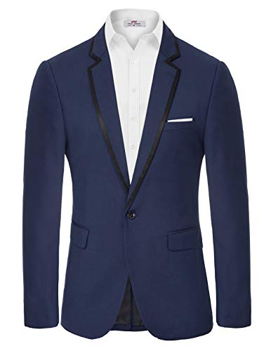 Amazon Brand - Goodthreads Men's Slim-Fit Seersucker Blazer, White/Blue, Medium