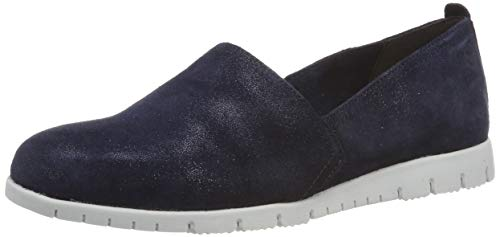 Tamaris Damen 1-1-24604-22 824 Slipper, Blau (Navy Metallic 824), 41 EU