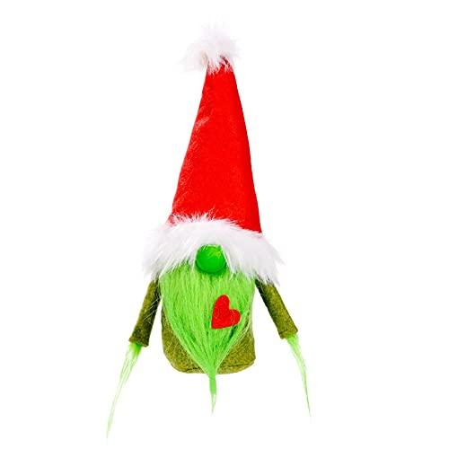 DFSGF Muñeca sueca Tomte sin rostro hecha a mano de peluche gnomos Figurines Juguetes de Navidad Adornos para el hogar Regalos Fiesta Favores Decoraciones