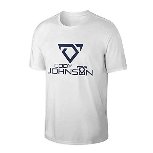 CHENX1NN Cody Johnson Stylish Party Adult T-Shirt Short Sleeve Shirt Men White
