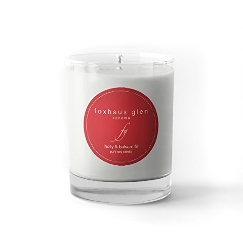 Foxhaus Glen Pure Soy 10.6oz Candle by the Sonoma Candle Company (Holly & Balsam Fir)