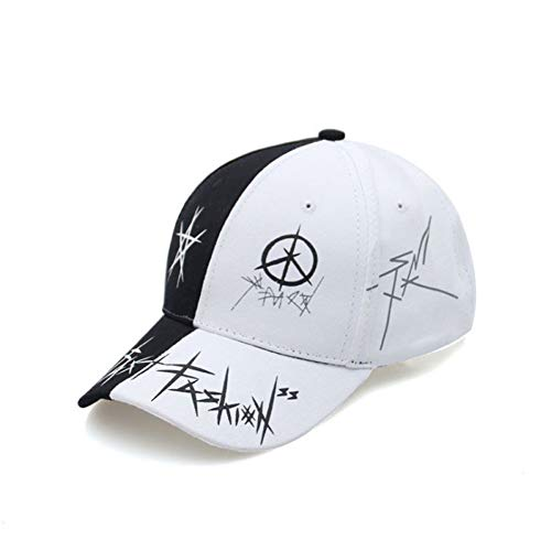 MAOZIJIE Personalizado Graffiti Snapback Gorras De Béisbol Negro Y Blanco Patchwork Hombres Mujeres Hip Hop Cap Moda Casual Hat