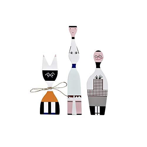 ZAKRLYB Holzkinder abstrakte Puppe Haus eingerichtet Schlafzimmer Wohnzimmer Studie Desktop Dekoration Einrichtung zubehör modern handgefertigte schmuck für büro kinderzimmer