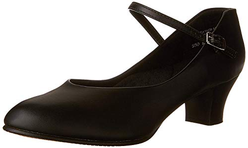 Capezio Women's Jr. Footlight Character Shoe,Black,8 W US