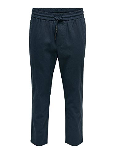ONLY & SONS Male Hose Loose Fit Cropped LDress Blues