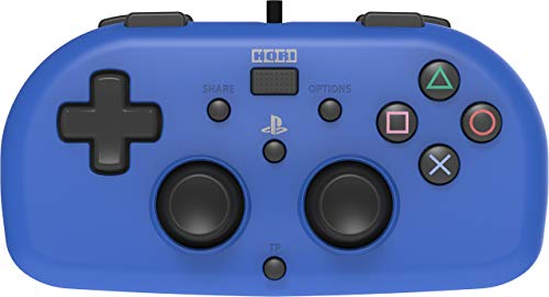 Wired Mini Gamepad for Kids - Playstation 4 Controller - Officially Licensed (Blue) (Renewed)