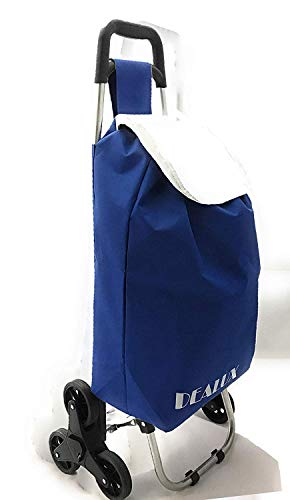 dealux Carrello Shoppy 2.0 Tris Blu Ruote