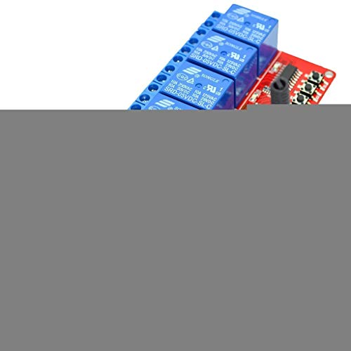 WY-YAN 433M Switch Module Board 5V 4 Ways with RF 30m 4 Buttons Remote Control