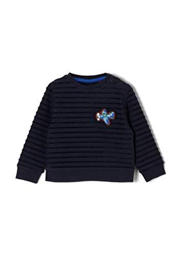 s.Oliver Junior Baby-Jungen 405.10.009.14.140.2051444 Sweatshirt, Navy, 74