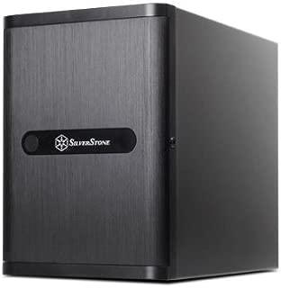 SilverStone Technology Premium Mini-ITX/DTX Small Form Factor NAS Computer Case, Black (DS380B)