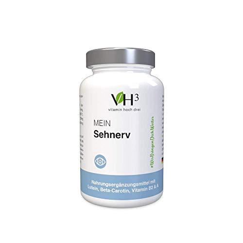 VH3 Mein Sehnerv Augen Nahrungsergänzungsmittel für gesunde Augen & Sehvermögen I pflanzliches Kombi-Präparat natürliche Alternative I Augen Vitamin Supplement natürliche Sehkraft Kapseln 60Stk