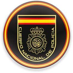 Martinez Albainox AB Imán para frigorifico y Nevera con Logo de Cuerpo Nacional de Policia, diametro de 5 cm, Potente, magnético, Decorativo, Regalo