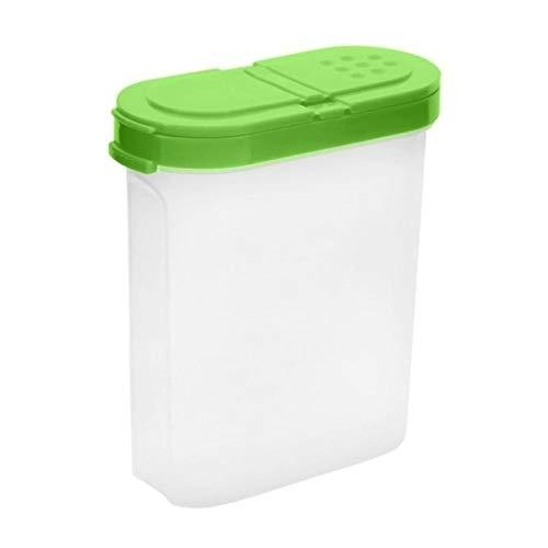 XGQ Creativo plástico de Grado alimenticio Oval Doble Cubierta condimento Utility Box Cocina (Rosa) (Color : Green)