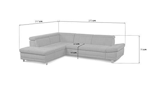 "Ecksofa günstig: Cavadore Sofa ""I"" in L-Form /   Ottomane Bild 3*"