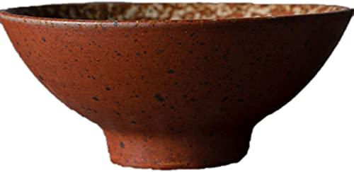 NBXLHAO Juego de vajilla de Barro, vajilla de Barro mediterránea Trabajo Hecho a Mano i Cuenco de Barro Cuenco de Postre Antiguo esmaltado Cuenco Cuenco de Cereal Cuencos de Sopa