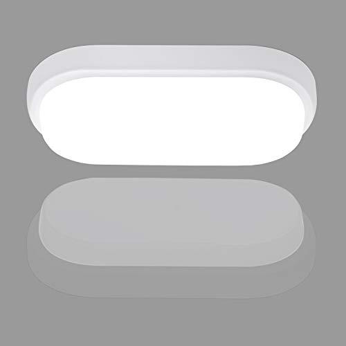18W LED Badlampe, IP54 Deckenleuchte LED Deckenlampe, LEOEU Ovalleuchte Keller 1440lm Flimmerfreie Feuchtraumleuchte für Bad Wohnzimmer Schlafzimmer Flur Balkon Treppenhaus, WC, 4000K Neutralweiß