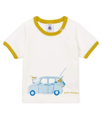 Petit Bateau Bead Pull sans Manche, Blanc (Marshmallow 01), Nouveau-né (Taille Fabricant: 3 Mois) Bébé garçon