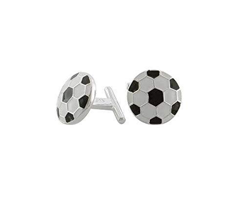 Argent sterling Boutons de manchette – Ballons de football